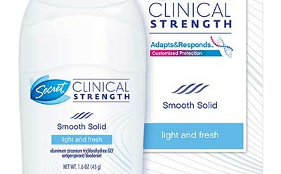 clinical strength antiperspirants