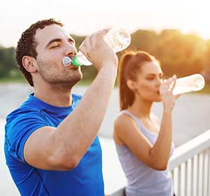 hydration helps reduce sweating