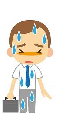 sweaty man axillary hyperhidrosis