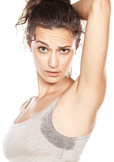 how to stop underarm sweating woman